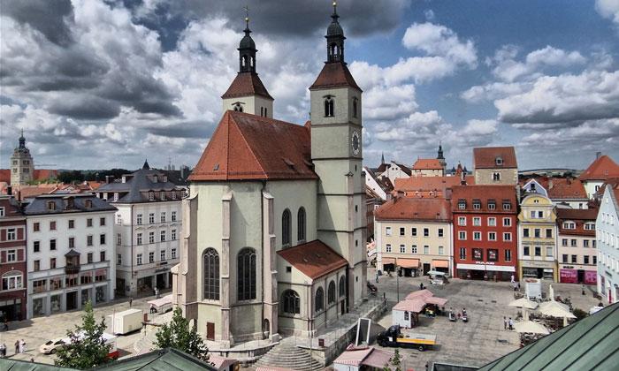 Евангелическая церковь (Neupfarrkirche) в Регенсбурге