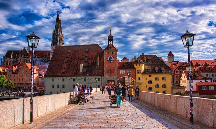 Старые городские ворота Регенсбурга