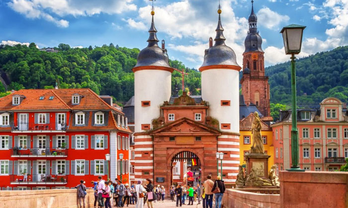 Ворота Старого моста в Гейдельберге