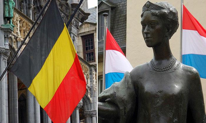 Флаги Бельгии и Люксембурга