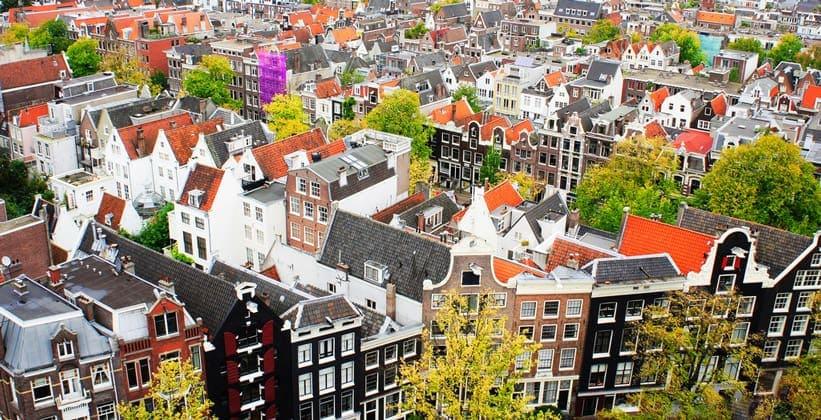 Экстравагантные дома Амстердама (Нидерланды)