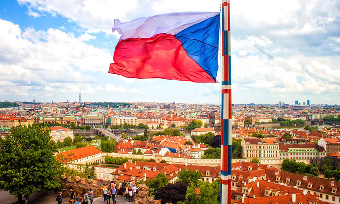 Флаг Чехии (Прага)