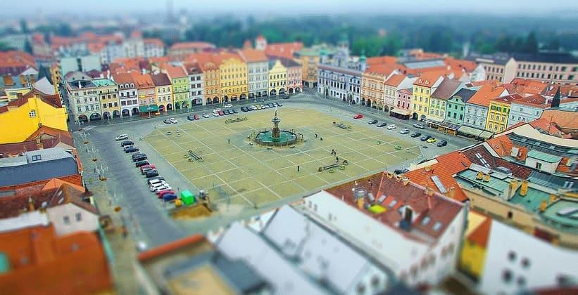 Город Ческе-Будеёвице в Чехии