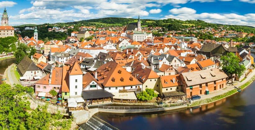 Город Чески-Крумлов в Чехии