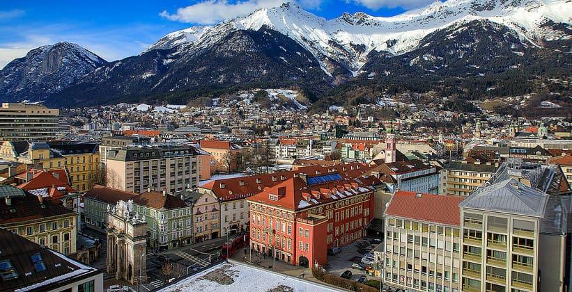 Город Инсбрук в Австрии
