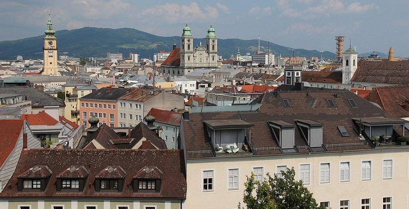 Город Линц в Австрии