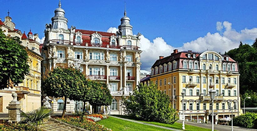 Город Марианске-Лазне в Чехии