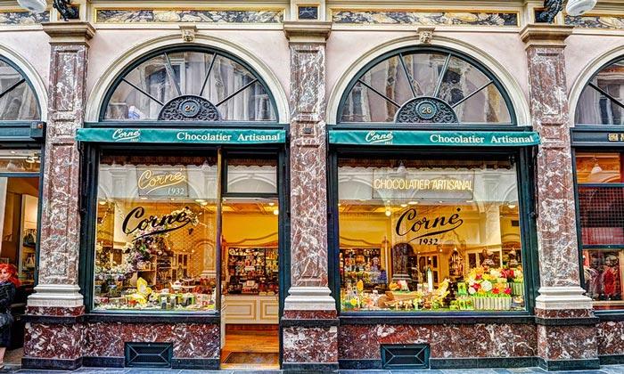 Магазин шоколада Corne в Брюсселе
