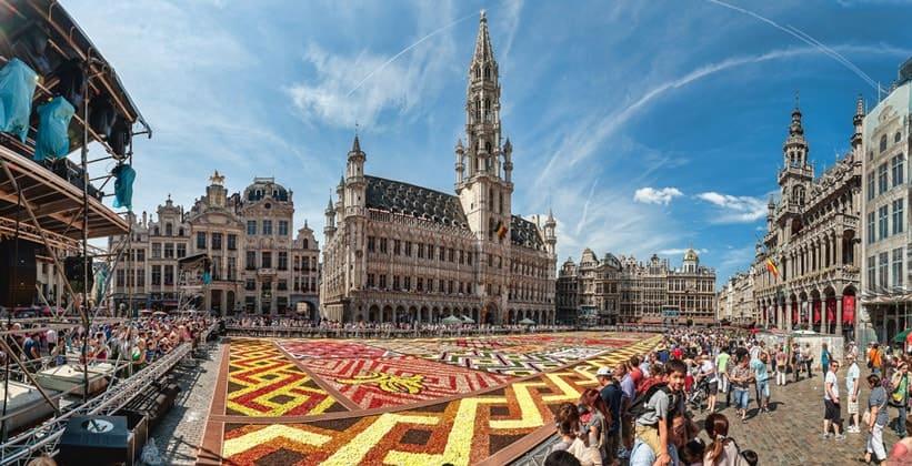 Площадь Гранд-Плас в Брюсселе (Бельгия)