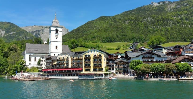 Селение Санкт-Вольфганг в Австрии