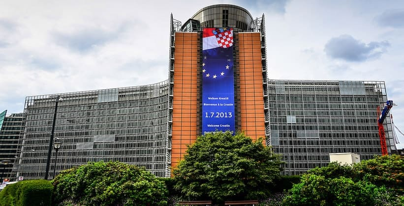 Здание Европейской комиссии в Брюсселе (Бельгия)