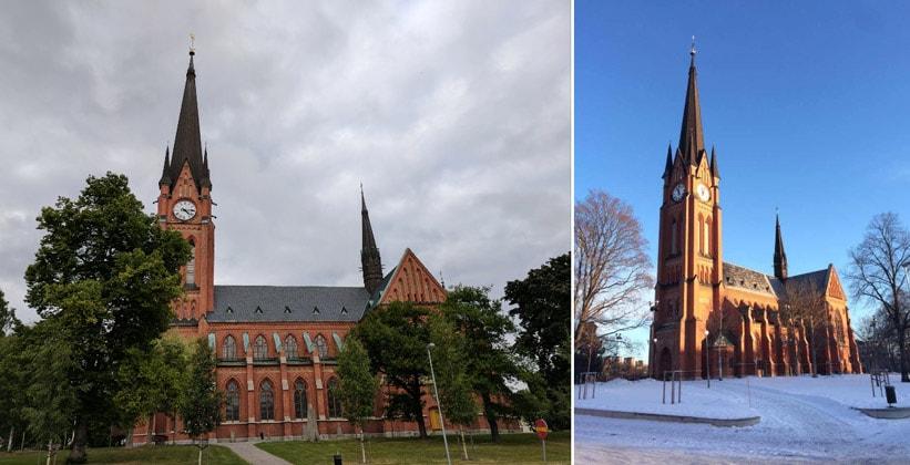 Церковь Густава Адольфа в городе Сундсвалль (Швеция)