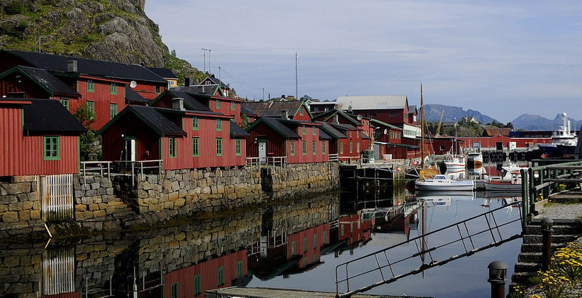 Деревня Стамсунда в Норвегии