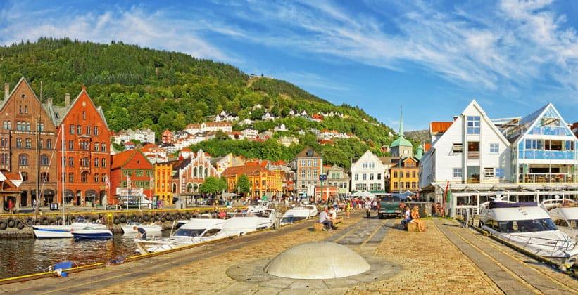 Город Берген в Норвегии