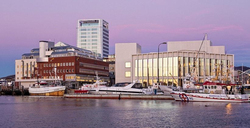 Город Будё в Норвегии