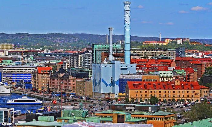 Город Гётеборг в Швеции