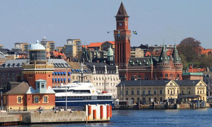 Город Хельсингборг в Швеции