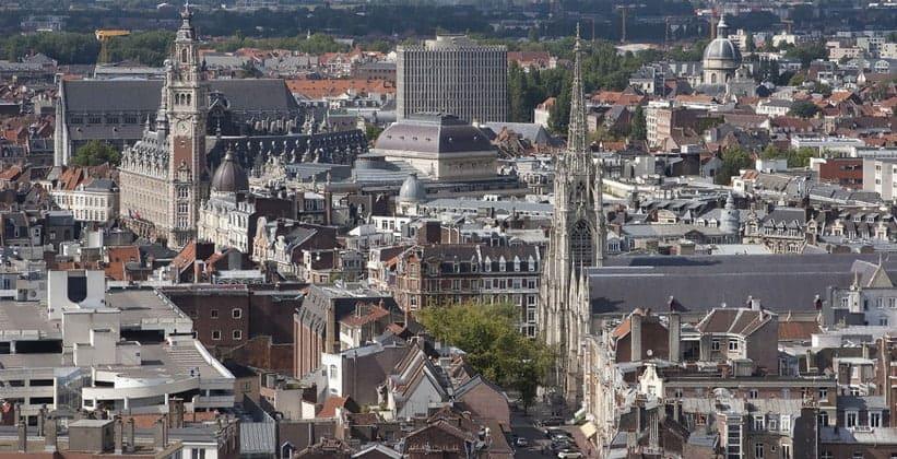 Город Лилль во Франции