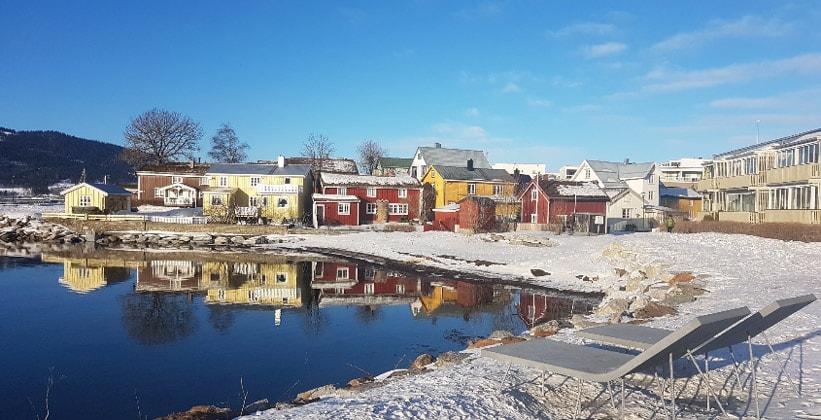 Город Му-и-Рана в Норвегии