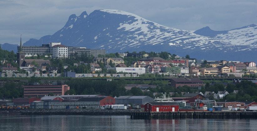 Город Нарвик в Норвегии