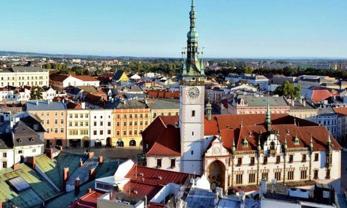Город Оломоуц в Чехии