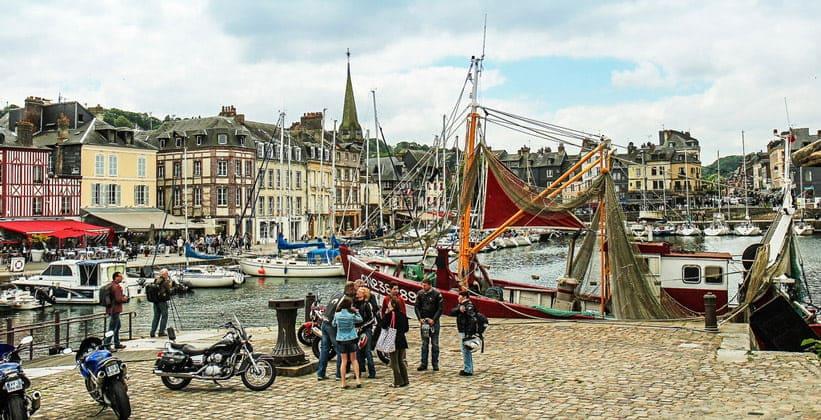 Город Онфлёр во Франции