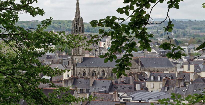Город Кемпер во Франции