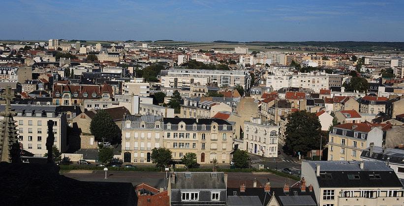 Город Реймс во Франции