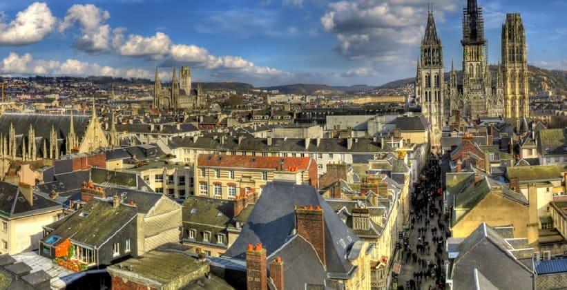 Город Руан во Франции