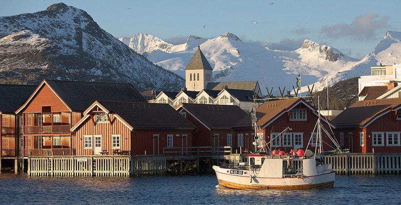 Город Свольвер в Норвегии