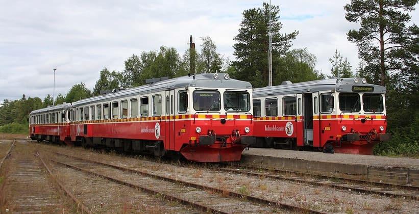 Узкоколейная железная дорога Инландсбанан в Швеции