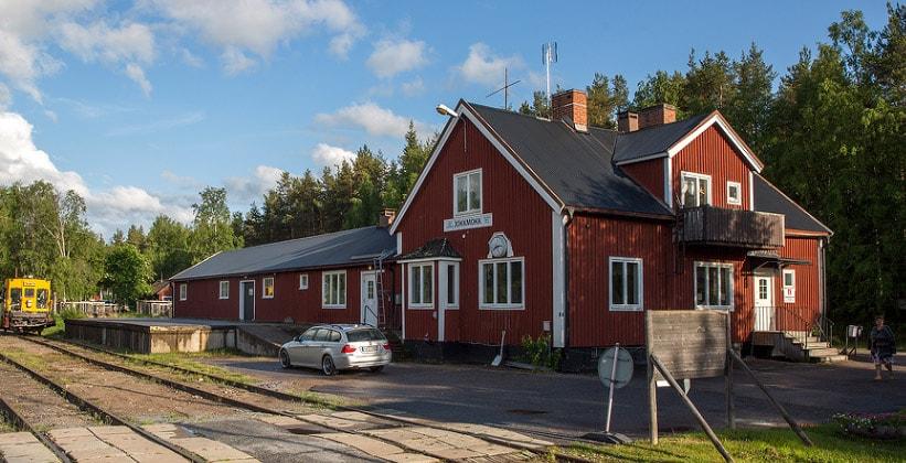 Железнодорожная станция Jokkmokk (Инландсбанан) в Швеции