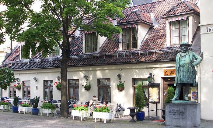 Кафе Engebret в Осло