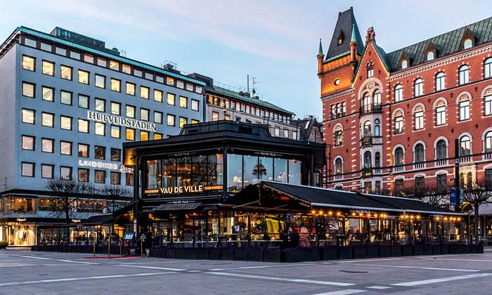 Кафе Vau De Ville в Стокгольме
