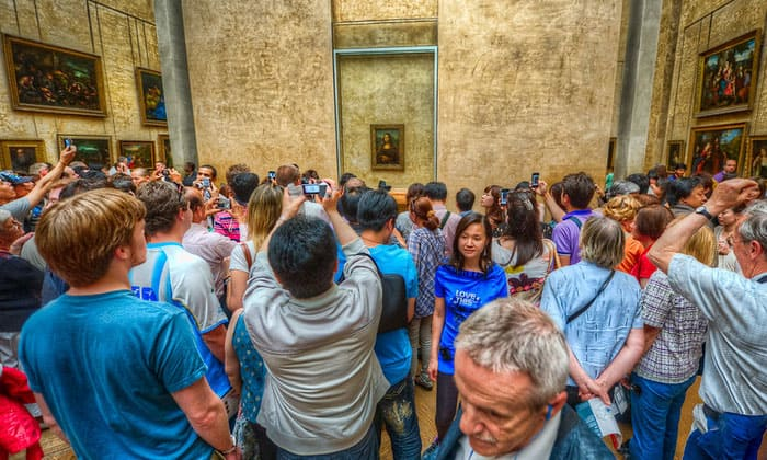 Картина Мона Лиза (Джоконда) музея Лувр в Париже