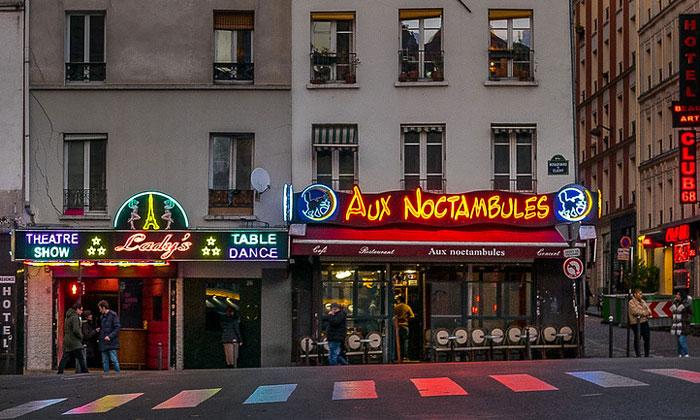 Ночная жизнь в Париже
