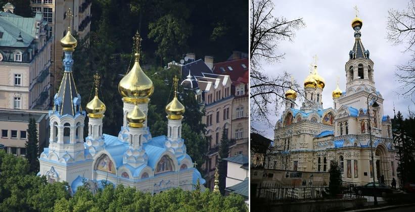 Петропавловская церковь в городе Карловы Вары