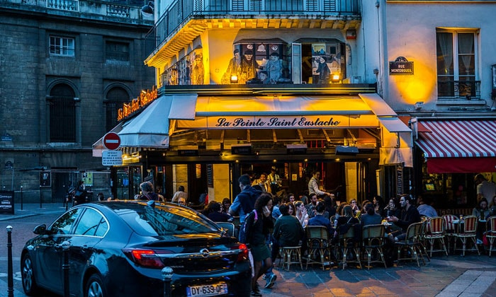 Ресторан La Pointe Saint Eustache в Париже