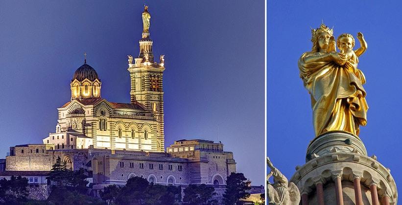 Базилика Нотр-Дам де ла Гард в Марселе (Франция)
