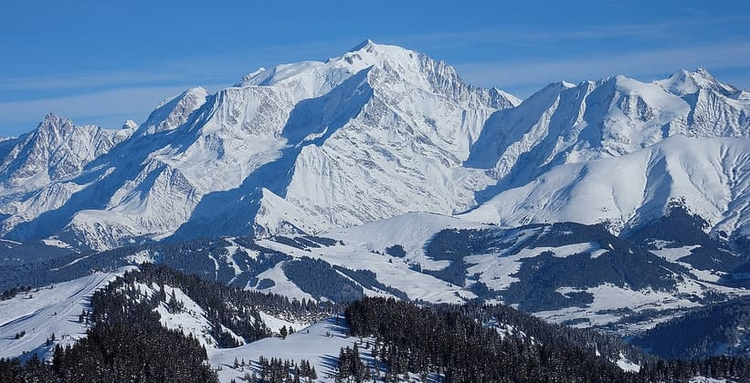 Гора Монблан во Франции