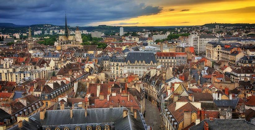 Город Дижон во Франции