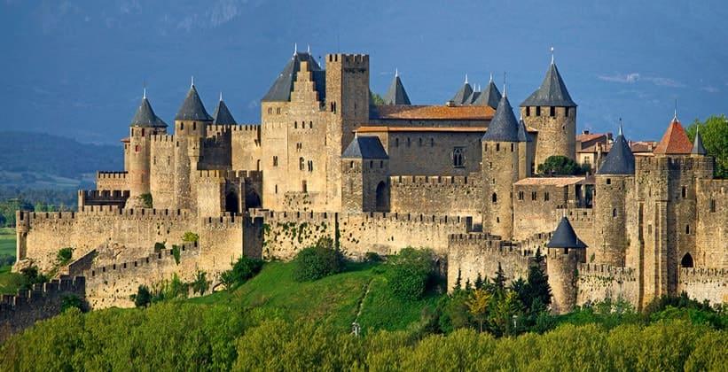 Крепость города Каркассон во Франции