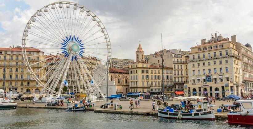 Город Марсель во Франции