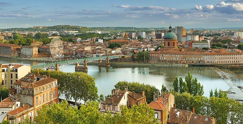 Город Тулуза во Франции
