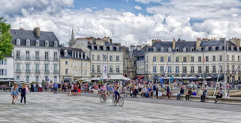 Город Ванн во Франции