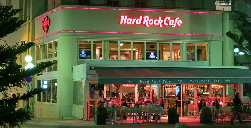 Кафе Hard Rock в Ницце (Франция)