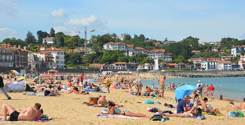Пляж города Сен-Жан-де-Луз