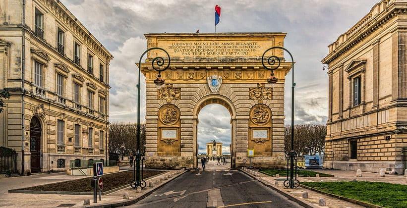 Триумфальные ворота Пейру в Монпелье (Франция)