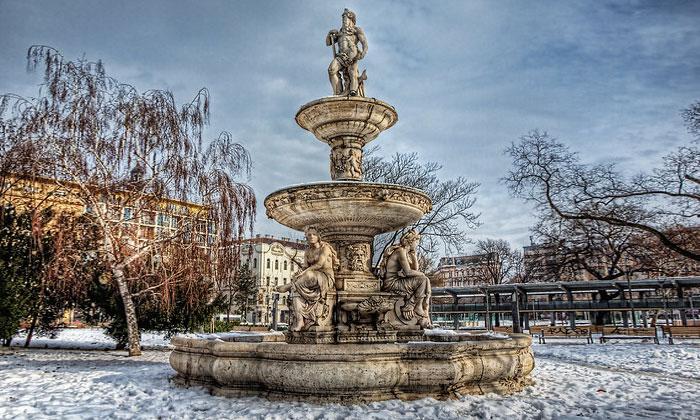 Экстравагантный фонтан Будапешта