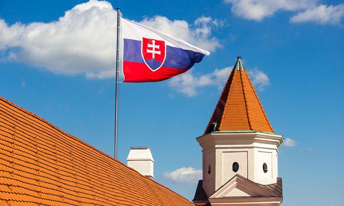 Флаг Словакии (Братислава)